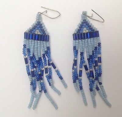 Native American Style Beaded Earrings Vintage American Retro Classic