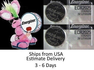 2 Pk Energizer Battery CR2025 Fits FORD CARS & SUV'S with SMART KEY FOB