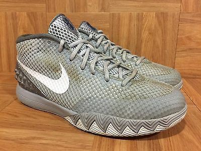 best sneakers e0e6f e71ed RARE🔥 Nike Kyrie 1 Wolf Gray Pure Platinum Midnight Navy Sz 7Y 717219-010