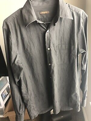 Louis Vuitton All Over Logo Mens Dress Shirt Size Small