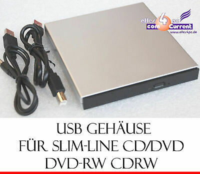 External Small Housing for Ide Cd-Dvd Cd-Rw Dvd-Rw without Drives USB 2.0 New