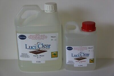 LuciClear 3 Litre Epoxy casting resin kit. Clear casting resin. Bubble free