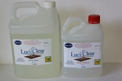 LuciClear 6 Litre Epoxy casting resin kit. Clear casting resin. Bubble free.
