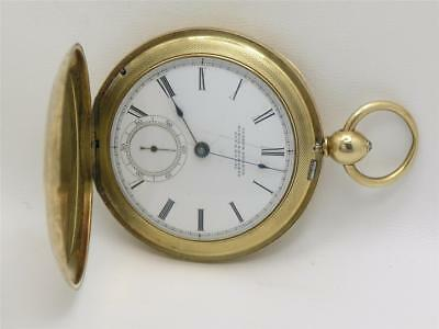 """Rare & Curious 54Mm """"Convertible"""" 14K English Fusee Pocket Watch W/ Eagle Case!"""