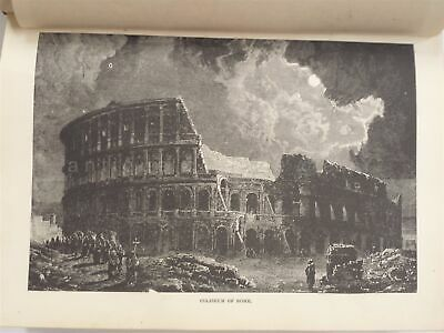 1883 antique MUSEUM of ANTIQUITY illus EGYPT ROMAN EMPIRE BABYLON ANCIENT leath