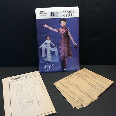 Vogue Craft Fashion Doll Sewing Pattern 7106 Gene Evening Dress Clothes