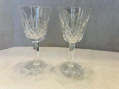 """Waterford Crystal Lismore Claret Wine Glasses, 5 7/8"""" tall 3"""" width Set of 7"""