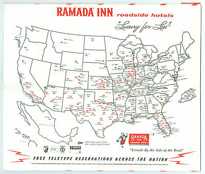 1968 Ramada Inns US Directory, 36 Pages