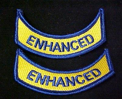 """EMT Embroidered Patch Yellow Gold Letters On Navy Blue Background 4""""X2"""""""