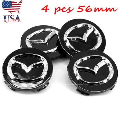 ✔️ 4x 56MM BLACK VOLKSWAGEN CENTER CAP Sticker Badge 3M High End Emblem Wheel