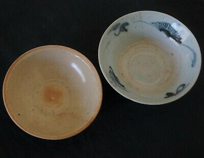 12th & 19th Century TWO ANTIQUE CHINESE BOWLS. SONG 960-1279 AD & QING 1800's