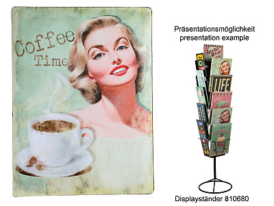"2 x  Metallschild Blechschild Nostalgie Retro Vintage 30 x 40 cm "" Coffee Time """