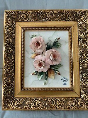 Capodimonte frame picture with Roses