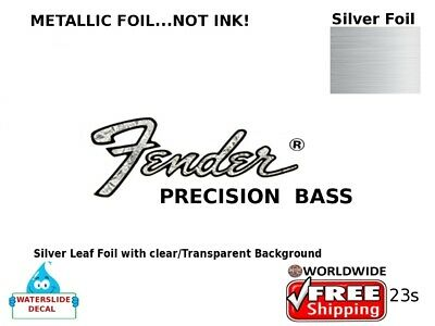 Fender Precision Bass Guitar Decal Headstock Sticker Inlay Decal Restoration 23s