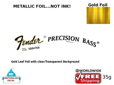 Fender Precision Bass Guitar Decal Headstock Inlay Decal Restoration 35g