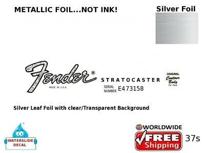 Fender Stratocaster Guitar Decal Headstock Inlay Decal Restoration 37s