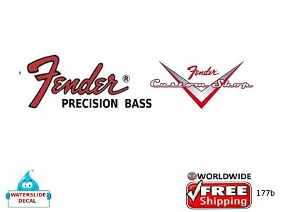 Fender Precision Bass Guitar Decal Headstock Inlay Restoration Logo Inlay 177b