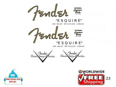 Fender Esquire Guitar Decal Headstock Inlay Decal Restoration Logo 23