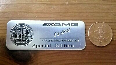 2 X Mercedes Amg Special Edition Affalterbach Germany Badge Decal **free P & P**