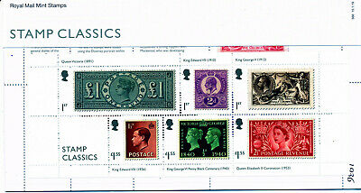 Presentation Pack 566 STAMP CLASSICS 2019 ROYAL MAIL MINT STAMPS 6 Post Office