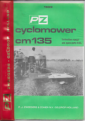 Agriculture/farming Other Tractor Publications Pezag Cm164 Operators Manual And Parts Book