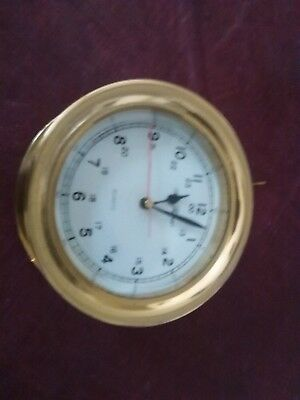 """8"""" clock brass face for restore or parts"""