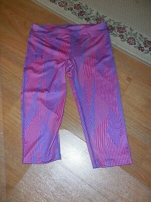 New Girls Under Armour Capri Size XL Youth Fitted Purple/Pink Athletic UPF 30