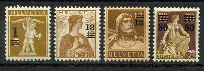 Suisse, Timbre, Types 1907-1914, Neufs Valeurs, Helvetia, 1915, Suisse Stamp