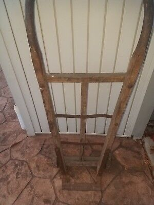 Antique Industrial Oak and Iron Hand Truck Trolley K&J of Columbus Ohio Vintage