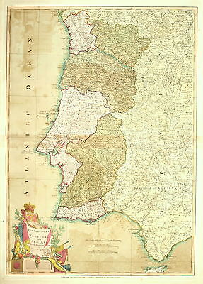 The Kingdoms Of Portugal And Algarve From Zannoni's Map By Laurie & Whittle 1803