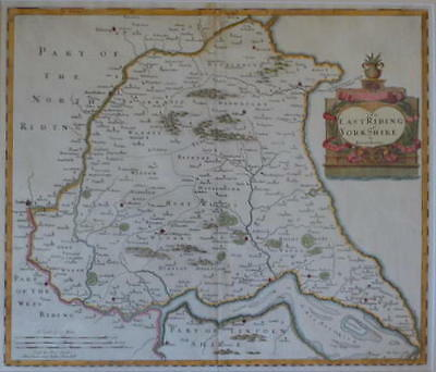 The East Riding Of Yorkshire By Robert Morden For Camden's Britannia 1695.