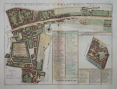 A Map Of The Parish Of St. Mary Whitechapel For Stow's Survey Of London 1720.