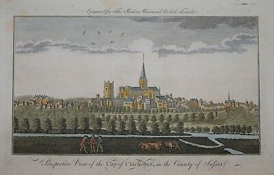 Perspective View Of The City Of Chichester In The County Of Sussex, 1779.