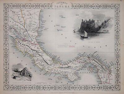 Isthmus Of Panama By John Tallis 1850