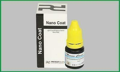 2 x NANO COAT LIGHT CURE PROTECTIVE VARNISH 5ml Dental Prevest Free shipping