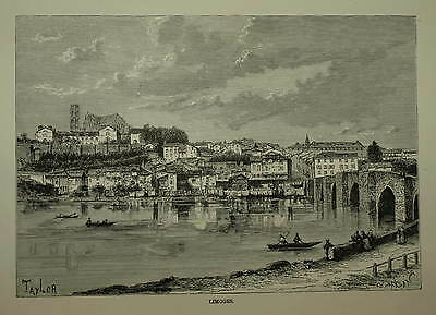 France. Limoges. Engraved View Circa 1880