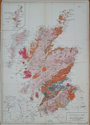 Scotland - Stanford's Geological Atlas, Published 1914.