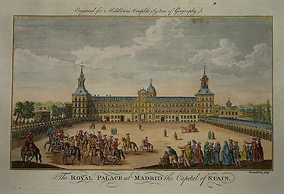 The Royal Palace At Madrid The Capital Of Spain... 1779.