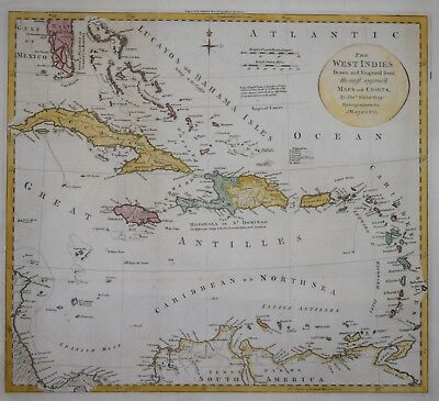 The West Indies By Thomas Kitchin, Circa 1795.