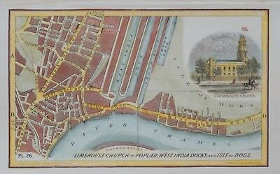 London - Limehouse Church To Poplar, West India Docks And Isle Of Dogs, 1854.