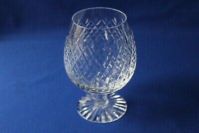 Royal Brierley  Crystal Brandy Glass Signed ( Unknown Pattern Name )