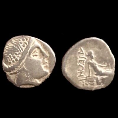Greek (450 Bc-100 Ad) 1 Rare Unresearched Hemidrachm Greek Silver Coin 300 Bc Coins: Ancient
