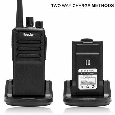 LE-C2 Two-way Ham Radio Handheld Walkie Talkie 2800mAh Battery Charger Earphone