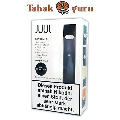 JUUL Starter-Kit neue Version (V2), inkl. 4 JUUL pods