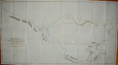 Canada - Large Map Of The Franklin Expedition 1825 And 1826.