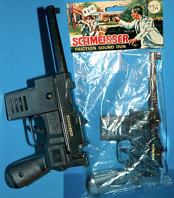 SCHMEISSER RATTER MP SPIELZEUGPISTOLE HONG KONG 70er OVP MACHINE GUN WITH SOUND
