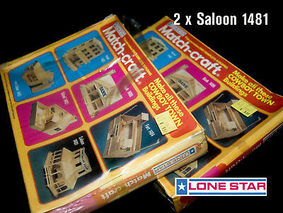 2 Saloon Lone Star Match-Craft Model Kit Complete Set 1975 Sealed Ovp Matchcraft