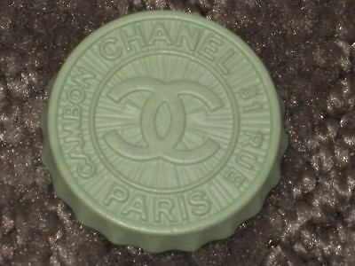 Chanel 1Mint Green Metal Cc Logo Front   Buttons 24 Mm / Over 1''  New