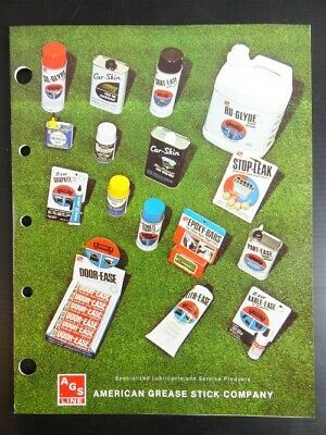 """1978 Vintage Jobbers AGS LINE """"Car Skin"""" Products SELL SHEET & (8 Page) CATALOG"""