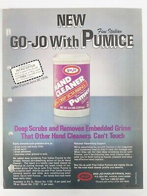 """Vintage 1978 GO-JO Jobbers """"Hand Cleaner with Pumice"""" SELL SHEET Advertising"""